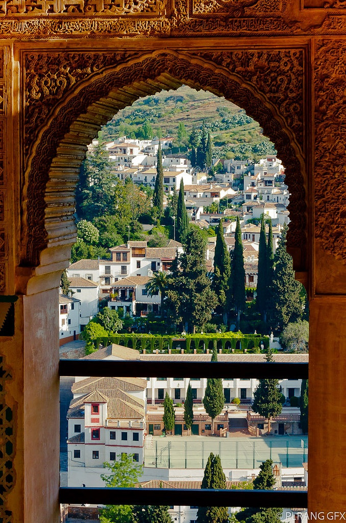 The city of Granada viewed from the Alhambra, Spain