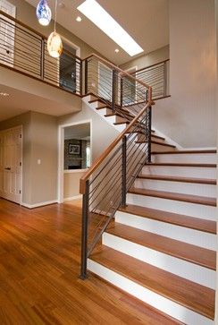 Modern Interior Stair Railings | Contemporary Stair Railings Design Ideas,  Pictures, Remodel, and