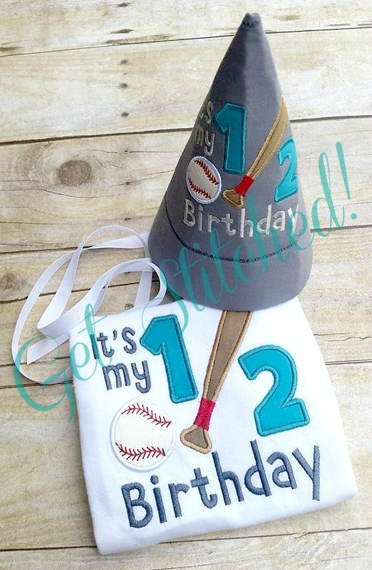 Boys Football Birthday onesie or shirt  with matching party hat, half birthday, Half Birthday, 6 month birthday, 1st, Boutique, BOY BIRTHDAY by hullmommy on Etsy
