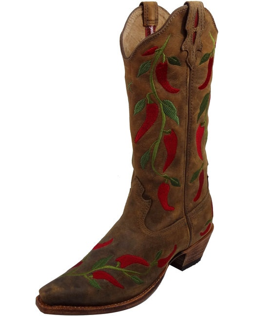 Twisted X Boots Women's Steppin' Out F Toe - Bomber & Chili