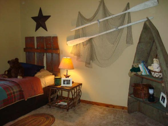 Rustic Fishing I Helped My Cousin With Her Little Boys Room They Live In