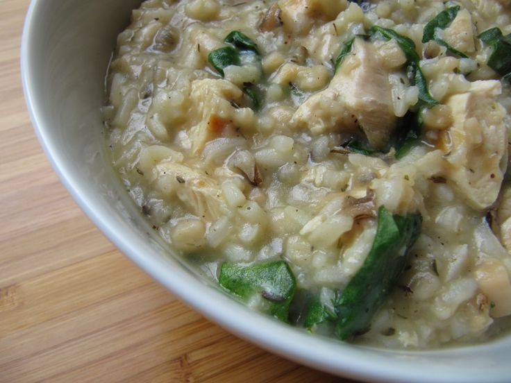 Chicken, Spinach and Wild Rice Soup