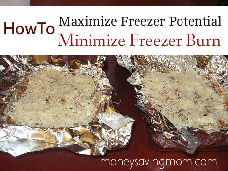 Detailed instructions on a smart way to wrap and freeze.