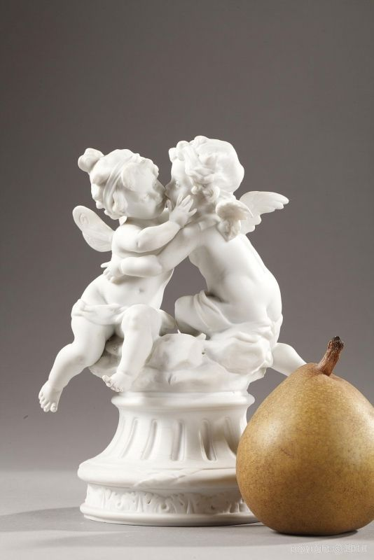 19th century biscuit group Eros and Psyche