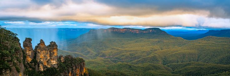 Anthony's Olympus Adventures posted a photo:  2 hours west of Sydney @ Katoomba  The famous Rayleigh Scattering is very visible at this time of day