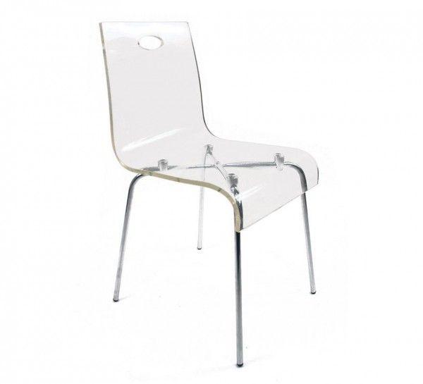 Chaise design transparente pas cher Cindy  http://www.homelisty.com/chaise-design-pas-cher/