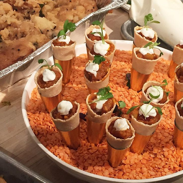 """""""Spiced Eggplant with Goat Cheese in Savory Cones by @chefvinod at last night's festive #BeardHouse dinner celebrating #ChineseNewYear (: @hdpiggy)"""""""