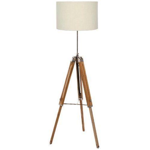 Wood Tripod Floor Lamp Base Damp Cloth Natural Matching Table Lamp Socket Wipe #LampsHome