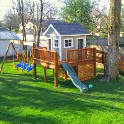 Children 39 s clubhouse for kids pinterest clubhouses for Outdoor playhouse plans