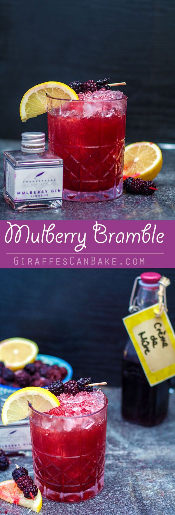 The Mulberry Bramble Cocktail is full of amazing flavours and stunning colours. Made with mulberry gin, lemon juice, and blackberry liqueur, it's really easy to mix, making it the perfect cocktail to serve at any occasion. It is fully of early autumn flav