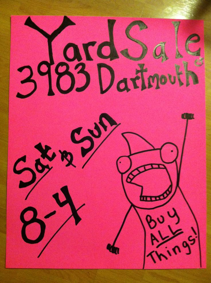 amazon com garage sale sign 9 x 12 inch 4 pack business and