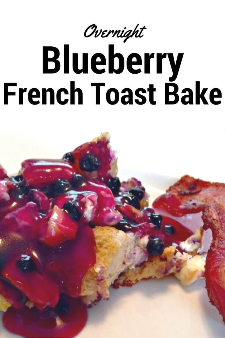 Perfect for your next holiday breakfast, put together this Overnight Blueberry French Toast bake the night before & have an easy morning.