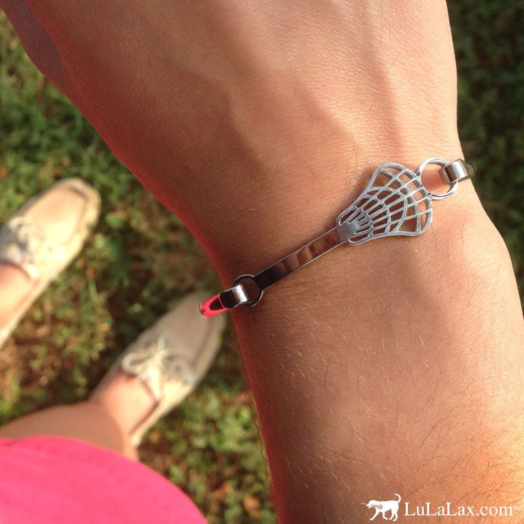 The lacrosse bangle bracelet is the perfect summer accessory for any lax girl! LuLaLax.com