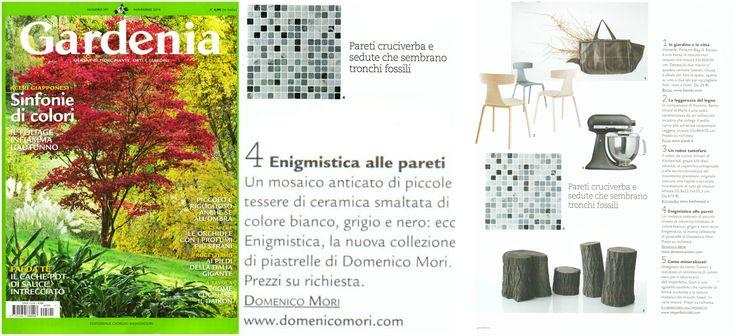 """In #Gardenia #magazine we find """"#Enigmistica"""" marble tile """"Mosaico anticato MA01"""" #DomenicoMori."""