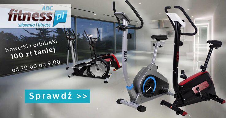"""Oferta dla wszystkich """"nocnych marków"""", bezwarunkowe 100 zł taniej na wybrane modele rowerków i orbitreków: http://www.abcfitness.pl/p/aktualne-promocje/"""
