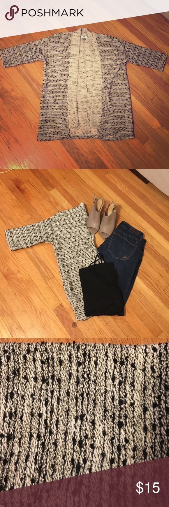 Black and White Old Navy Sweater Brand new open front black and white marled sweater Old Navy Sweaters Cardigans