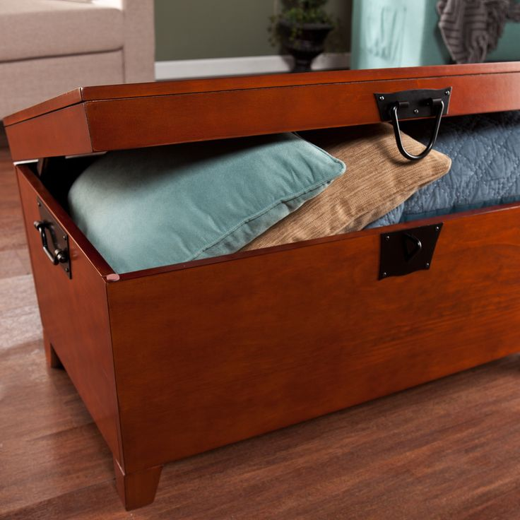 Harper blvd pyramid trunk oak cocktail table by harper for Overstock trunk coffee table