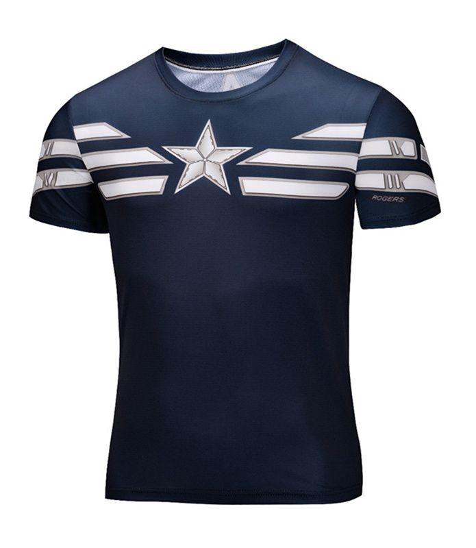 awesome Sport t-shirt Captain America Winter Soldier Marvel GYM  -