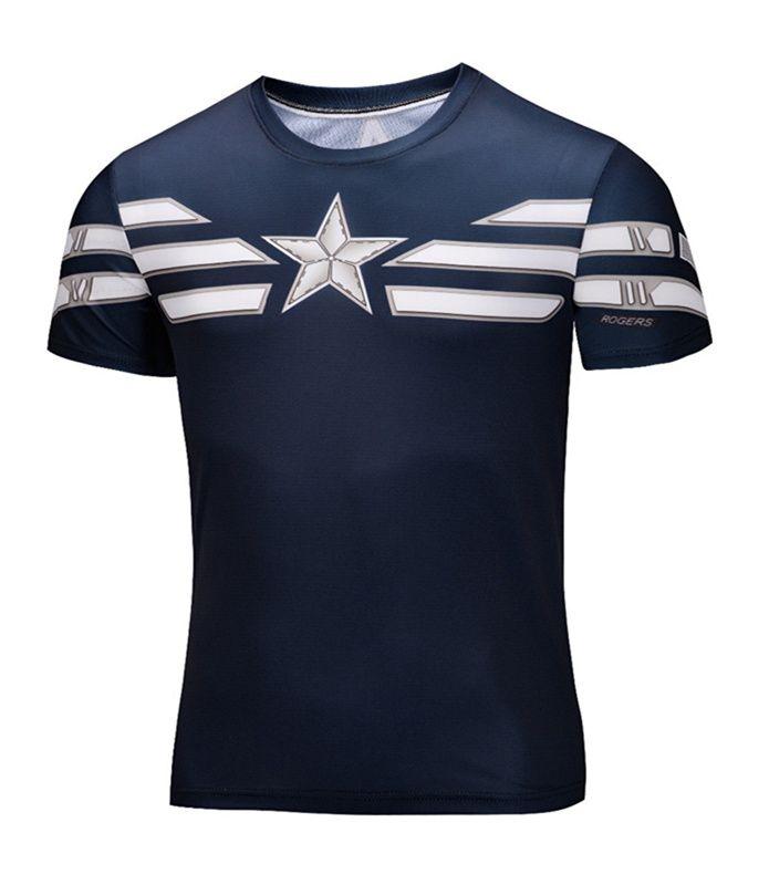 Grande formato Super Heroes Avenger Captain America Batman 3d T camicia Uomini Armatura Strato di Base Termica Sotto la Camicia fitness Crossfit top