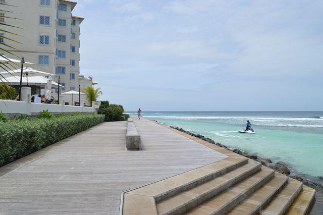 Michael & Nicole love strolling the Barbados south coast boardwalk...
