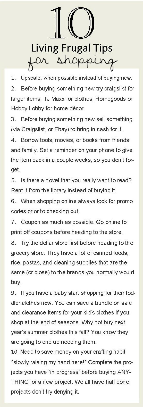 More frugal living tips from Last Legs Blog.