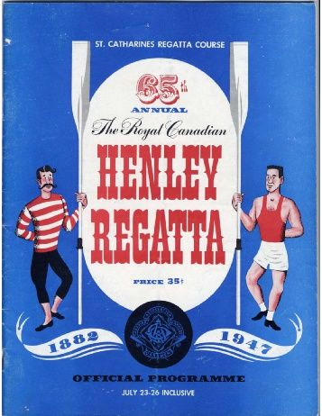 1947 - the Royal Canadian Henley Regatta Databases
