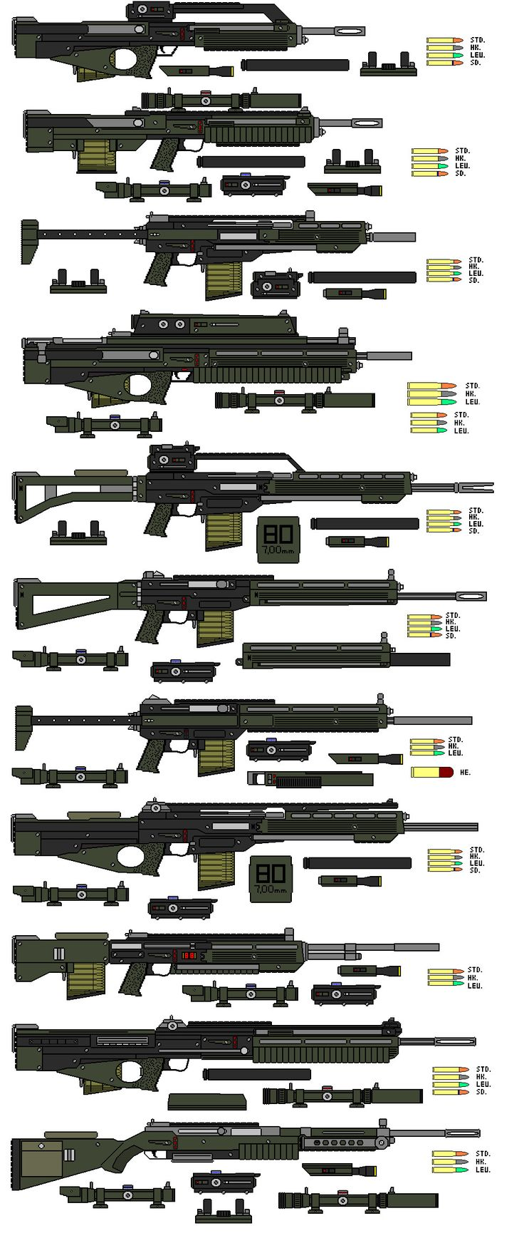 Older Assault Rifles