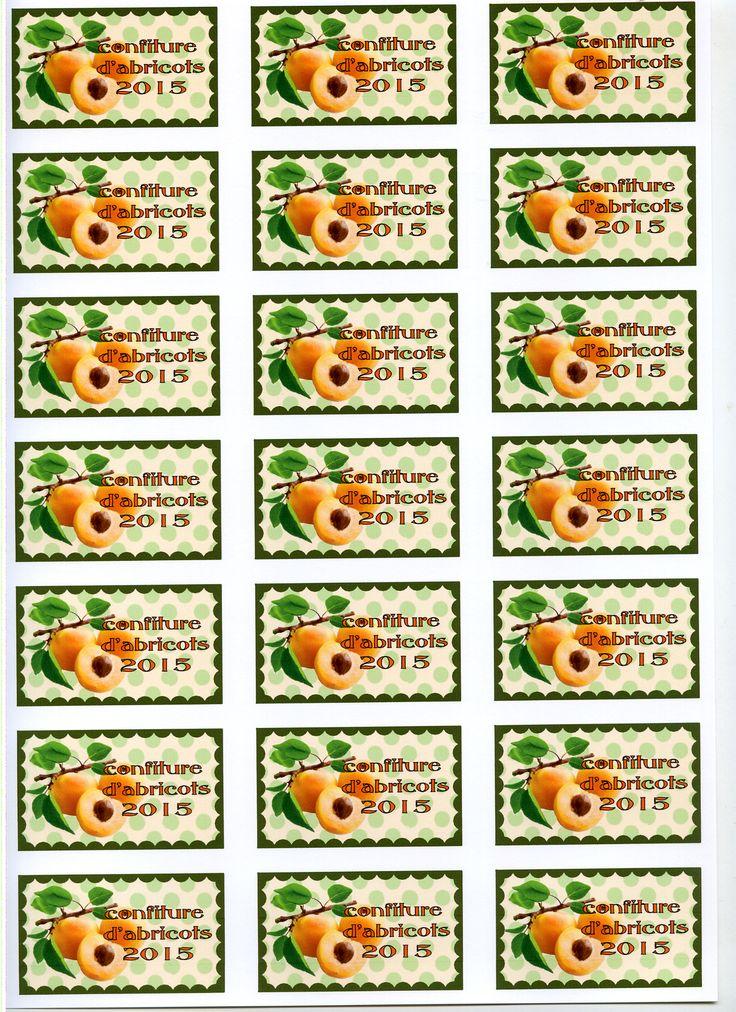 Bien connu 47 best Etiquettes de confiture à imprimer (sur papier couché  BE13