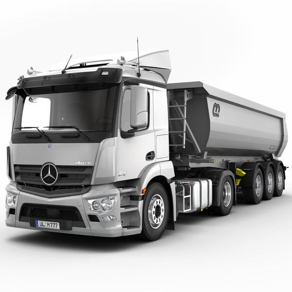 Mercedes benz antos mbhess mbtrucks semi trailers for Mercedes benz semi trucks