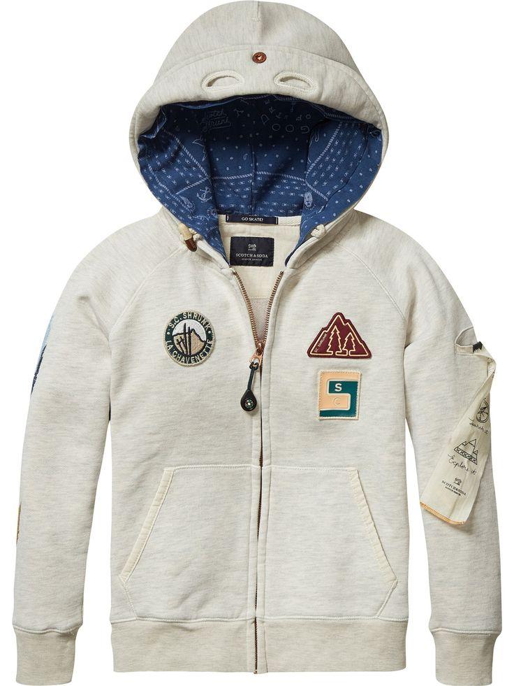 Sweat-shirt à capuche explorateur