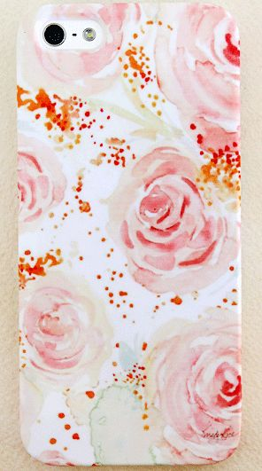 Blush Watercolor Garden Rose iPhone 4/4s, 5/5s and 5c Case #Iphone #art #watercolor #iphoneart