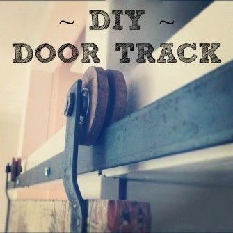 DIY How to create your own barn door track hardware  | Design The Life You Want To Live