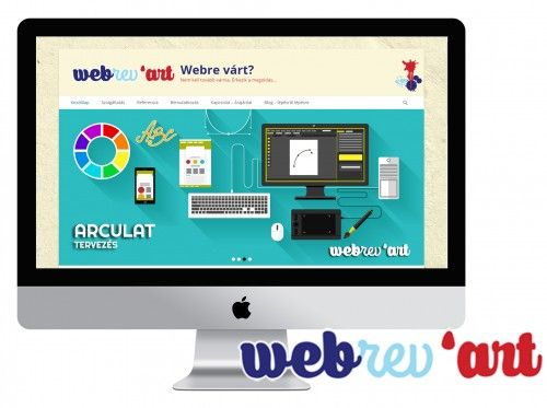 Bábikné Gyovai Anita végzett webdesigner hallgatónk weboldala | www.webrevart.hu