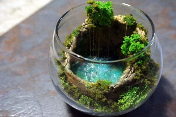 hidden cave pool cenote terrarium diorama home decoration pinterest jardins miniatures. Black Bedroom Furniture Sets. Home Design Ideas