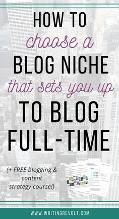 Wondering how to pick a blog niche? Follow the tips in this post, and you'll take the first step in turning your blog into a full-time income by choosing the right topic to write about!   blogging tips   entrepreneur tips   writing tips   how to choose a blog topic   what to write about on your blog  