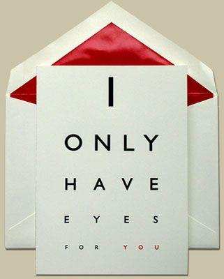 I only have eyes for you....