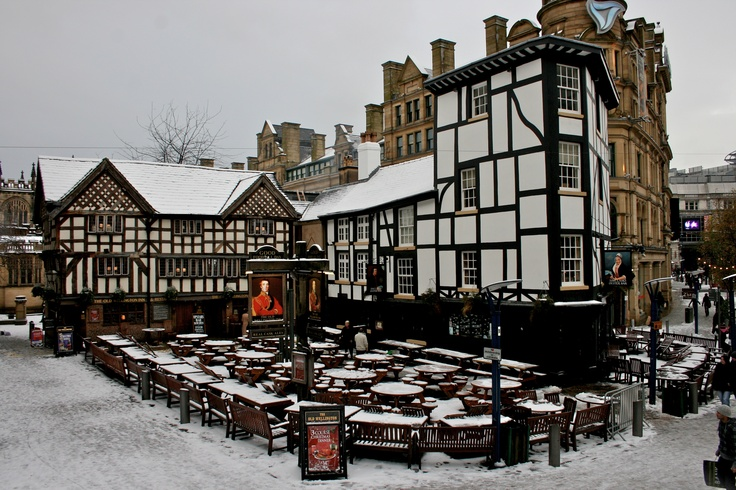 Shambles Square, Winter 2009 in Manchester, UK.
