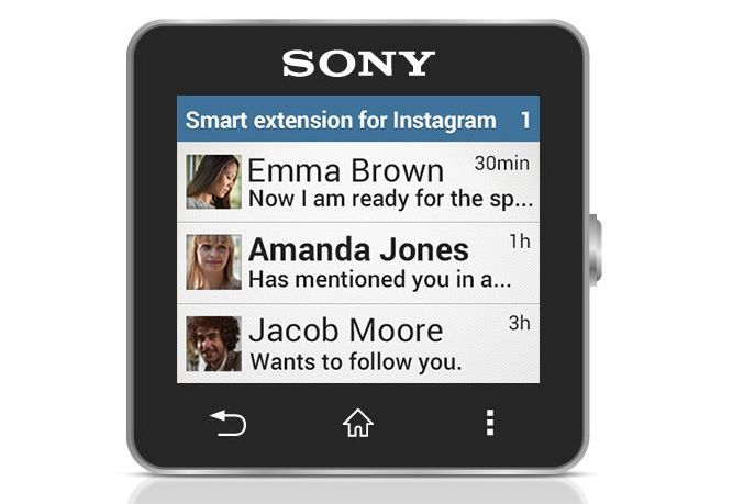 Now Instagram app is available for Sony SmartWatch 2