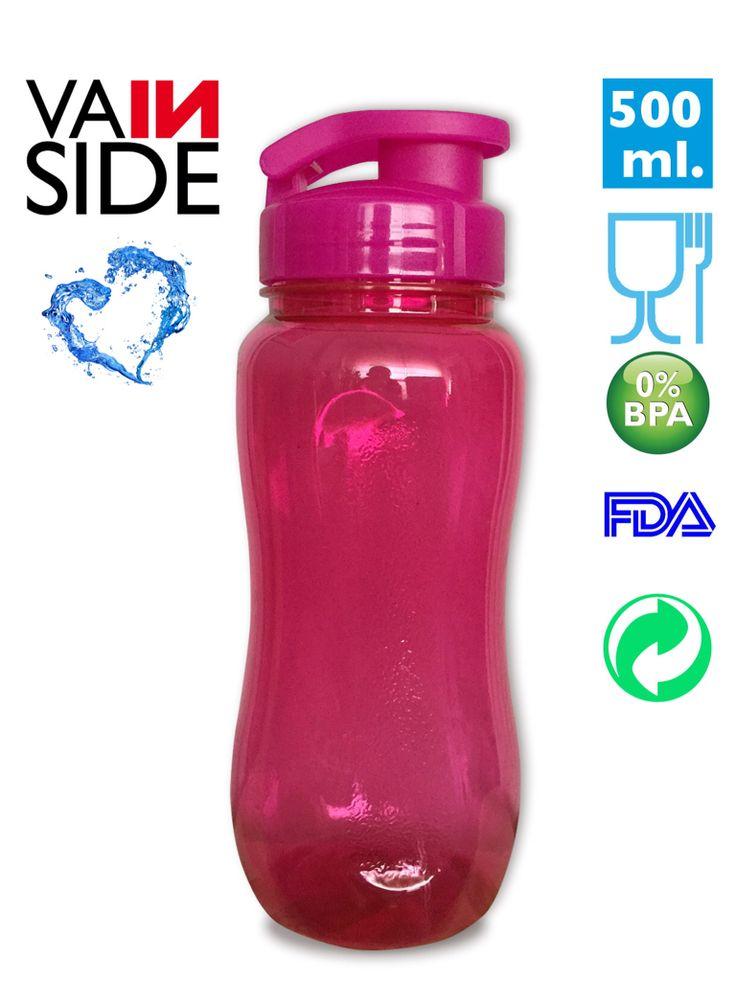 Botella VAINSIDE Oasis Fitness 600ml. Rosa.