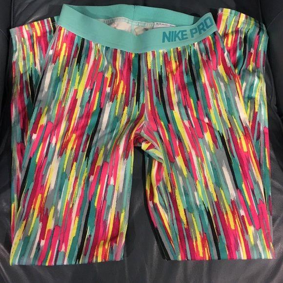 Nike Pro Leggings Like New Nike Pro Leggings-multicolored! Nike Pants Leggings