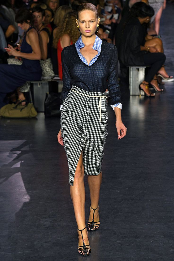 Very cool mix of blue and black gingham. Altuzarra Spring 2015 Ready-to-Wear - Collection - Gallery - Style.com