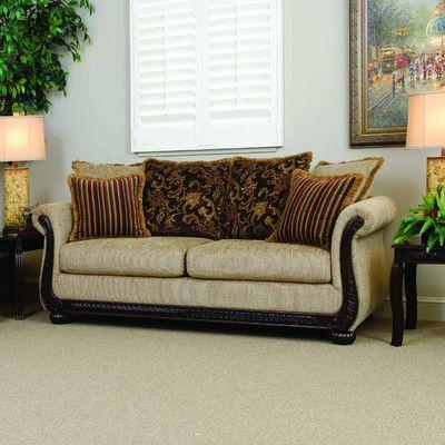 Serta Upholstery Marlborough Sofa Upholstery: Radar Coffee / Windsor / Quinn Coffee
