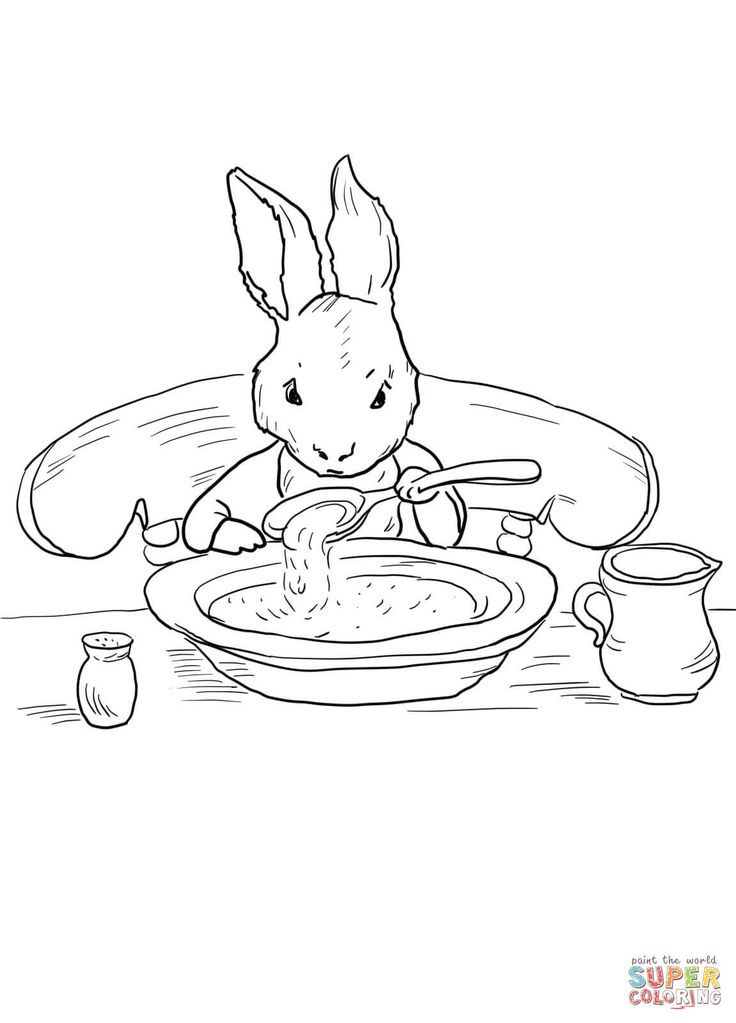 Peter Rabbit At Home Coloring Page From Category Select 20946 Printable Crafts Of Cartoons Nature Animals Bible And Many More