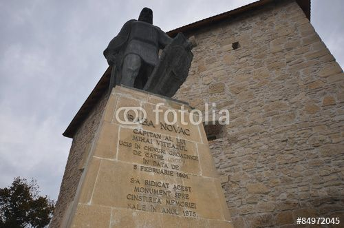 Baba Novac Monument front of the Tailors' Tower, Cluj-Napoca, Romania