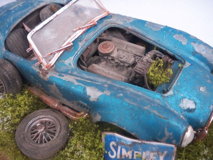 Shelby Cobra 427 Barn Find Weathered Pro Built Diorama Revell 1 25 Plastic OOAK FindsModel CarVintage
