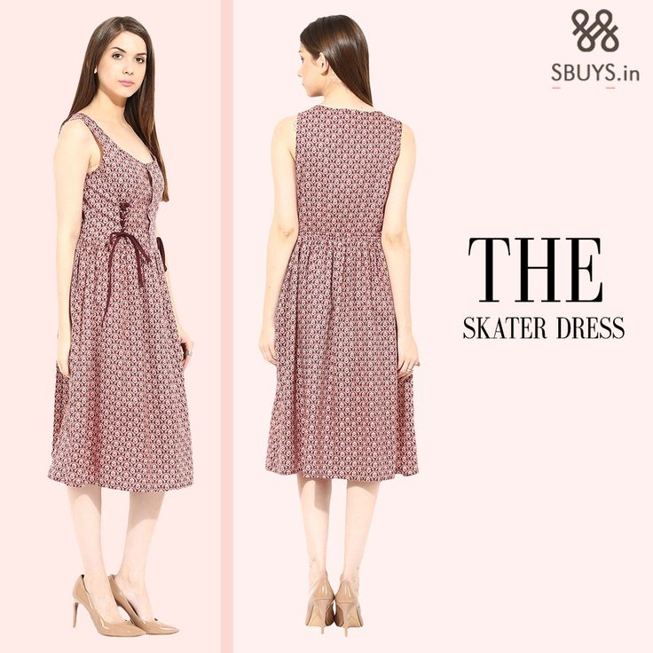 Skater dresses are so versatile and a seasonal staple.They can go from sweet and preppy to rock & roll look. Shop at http://www.sbuys.in/ #fashiondiaries #ootd #afashionthing #dresslove #sbuys