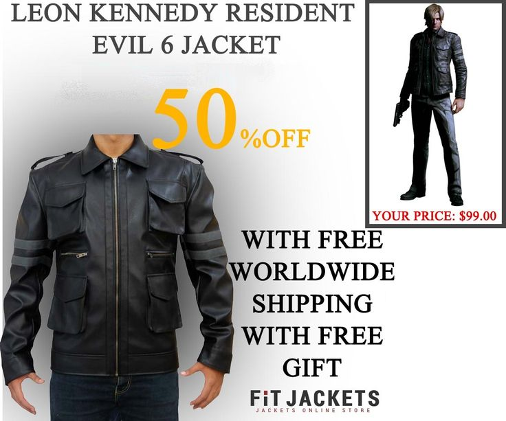 Fit Jackets offer an outstanding Resident Evil 6 Leon Kennedy leather jacket for just $99 along with free shipping! Get one today from 2015 New Year sale, which is superb for casual activities, clubs, bikers and winter. Hurry, Limited stock left!  #winterseason #LeatherJacket #HolidayDeal #LeatherOutfit #LeonKennedy #ResidentEvil6 #GamingCostume #GamingJacket #MensCoat #MovieJacket #Fashion #MensOutfit
