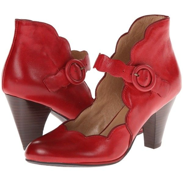 Miz Mooz Carissa (Red) Women's Maryjane Shoes (440 BRL) ❤ liked on