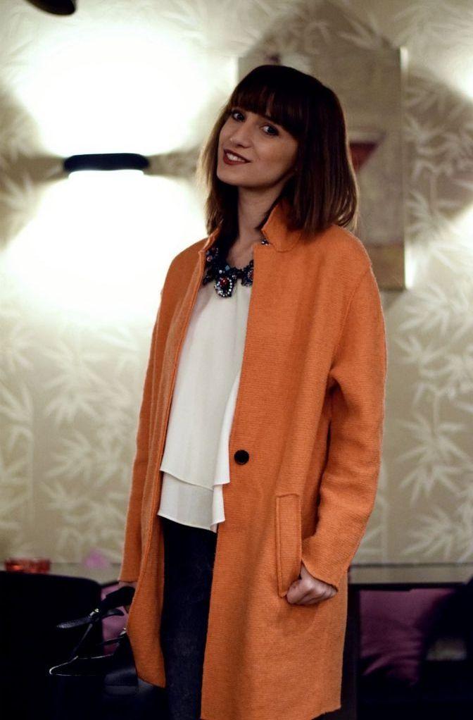 orange coat fall 2014 trends
