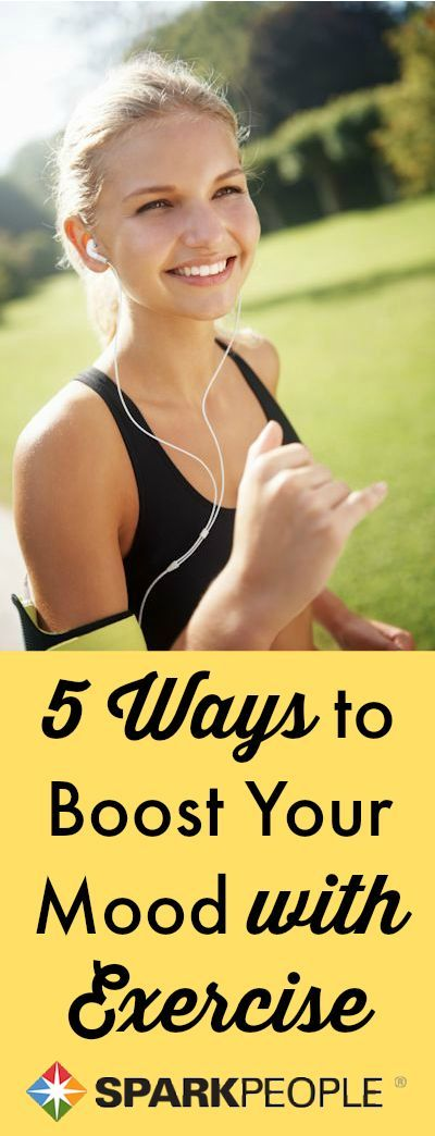 Feeling down and out? Don't sit on the couch--bust your bad mood with a workout! Not sure how? Try these 5 exercise mood boosters. You may not have the motivation, but we do!